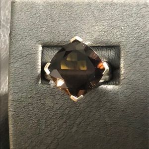 NEW Sterling Silver Smokey Quartz Ring - Size 8